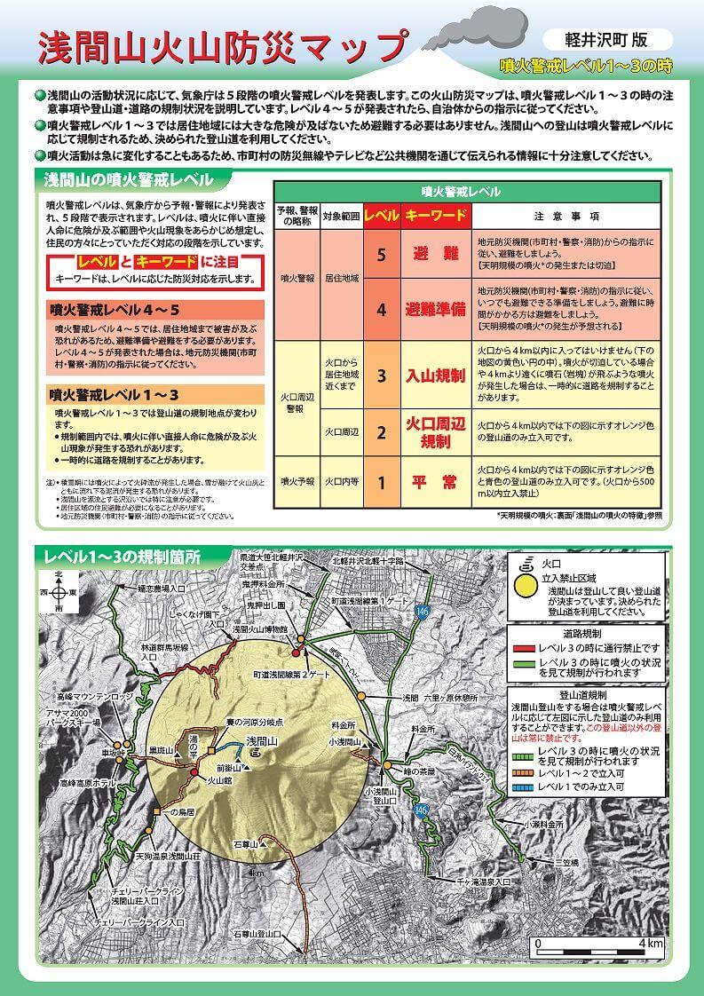 浅間山火山防災マップ