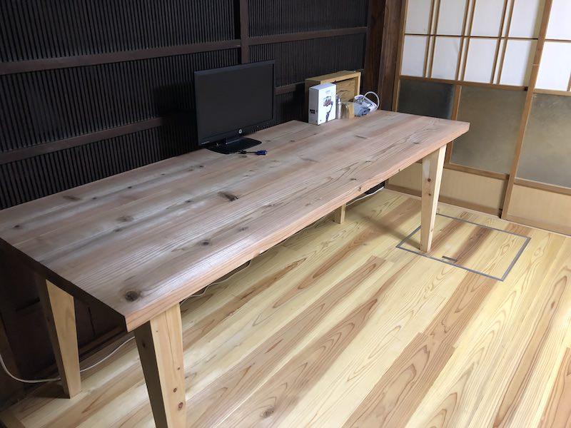 ミニマリストのテーブル